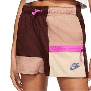 Nike Icon Clash Color Block Retro Shorts Burgundy